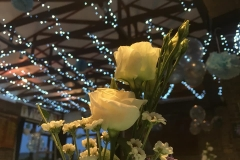 function room wedding roses