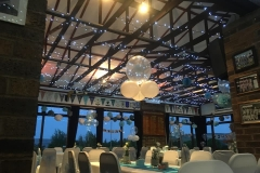 function room wedding light blue