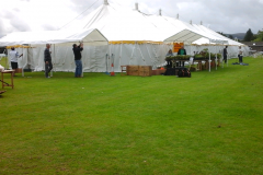 The marquee at Disley show