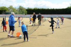 DASC Disley Junior Tennis practice match