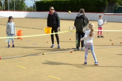 DASC Disley Junior Tennis practicing